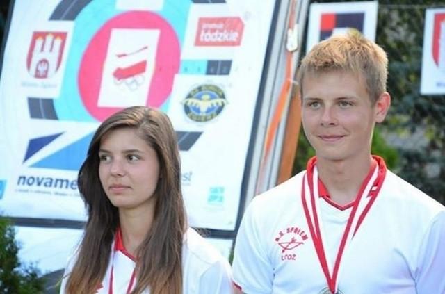 Zawodnicy łódzkiego Społem Magda Śmiałkowska i Marek Szafran