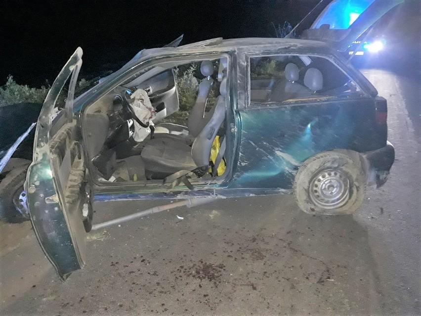 Kierowca seata ibizy stracił panowanie nad pojazdem. Skutki...
