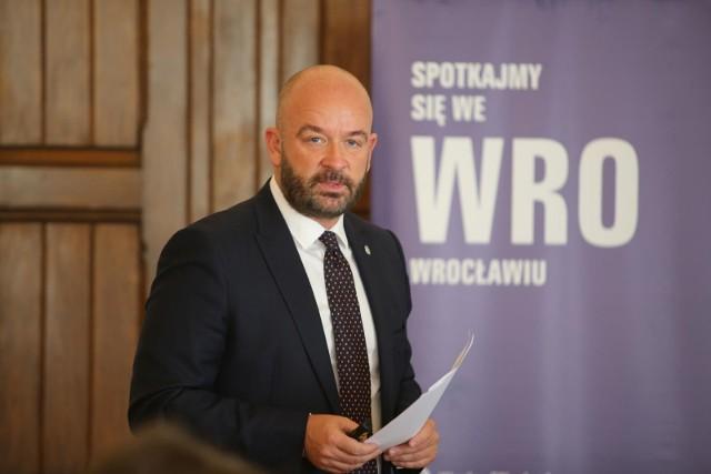 Na zdjęciu: prezydent Wrocławia, Jacek Sutryk
