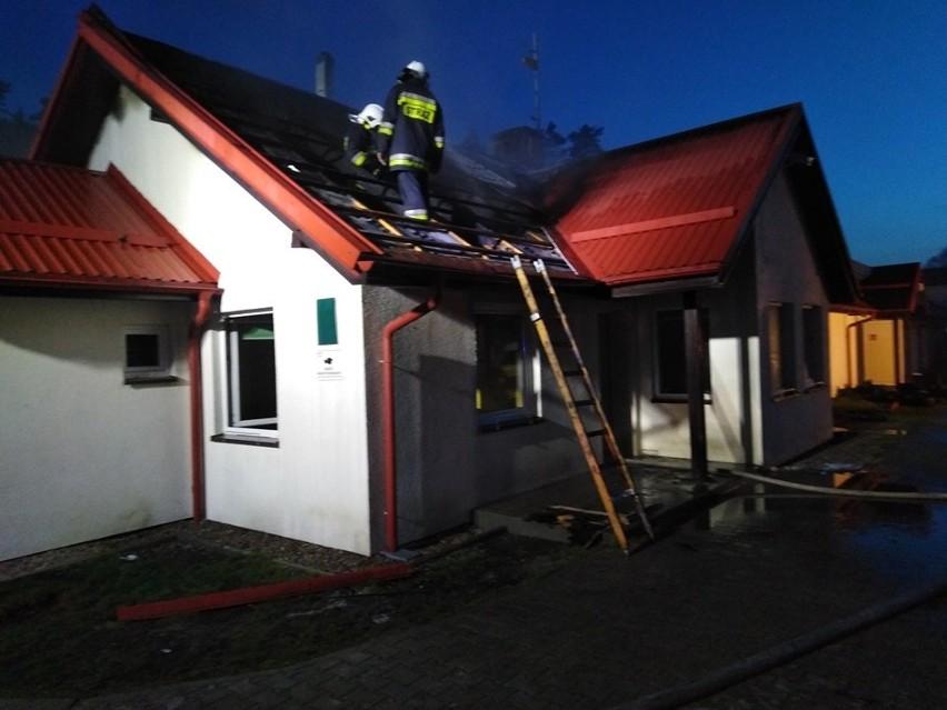 Pożar w Dąbkach.