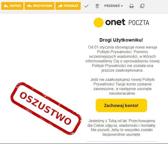 Zespół CERT Polska zaobserwował powrót kampanii podszywania się pod administratorów znanych serwisów pocztowych