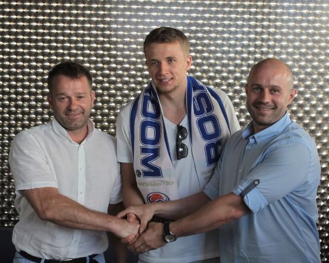 Od lewej: Mariusz Wójcicki, Daniel Szymkiewicz, Piotr Kardaś