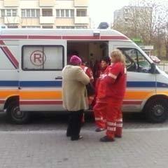 Karetka zabrała poszkodowanego do szpitala