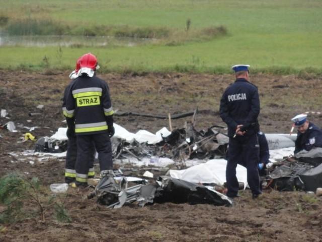 Wypadek helikoptera - Wygonin (gm. Stara Kiszewa) 13.09.2013