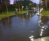 Pogoda w Łodzi. Mocno padało i grzmiało. Zalane jezdnie, nieprzejezdne fragmenty ulic