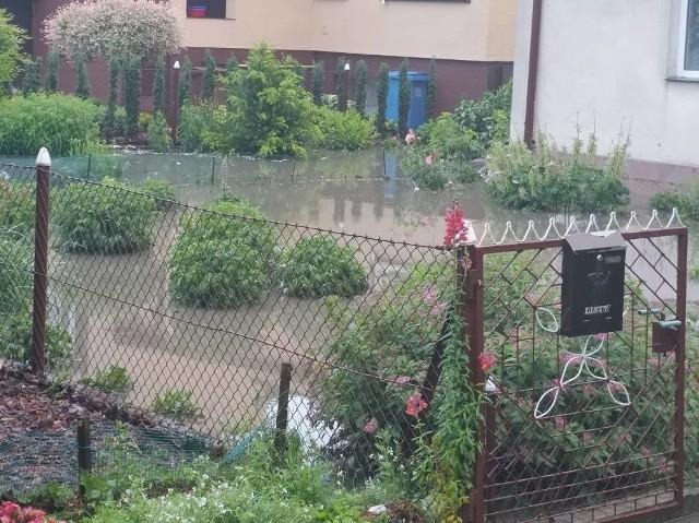 W Wąbrzeźnie mieszkańcy szczególnie odczuli negatywne skutki ulewy w piątek, 19 czerwca