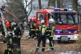Pożar domu jednorodzinnego w Straszewie pod Aleksandrowem Kujawskim. Na miejscu 8 zastępów