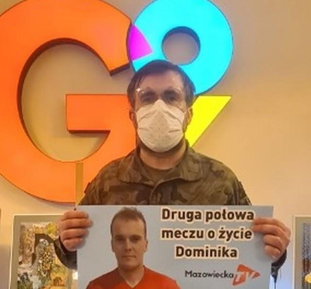 Bartosz Opania zachęcał do wspierania akcji pomocy dla Dominika Wojdalskiego.