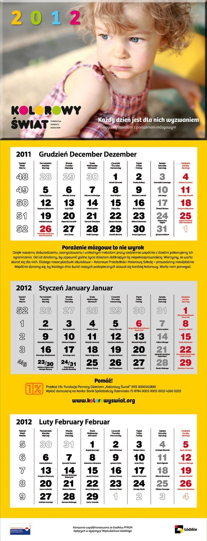 Kalendarz na 2012 rok 14 grudnia dołączany jest do gazetki prenumeratora.