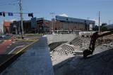 Znów zmiany na placu Dominikańskim. Wyburzają przejście podziemne, trwa budowa biurowca (ZDJĘCIA)