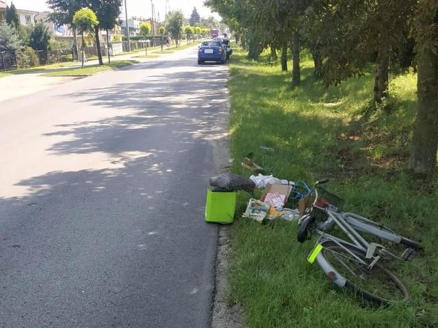 Do potrącenia rowerzystki doszło na ul. Poznańskiej w Piotrkowie Kujawskim. Kobieta z urazem ręki trafiła do szpitala.
