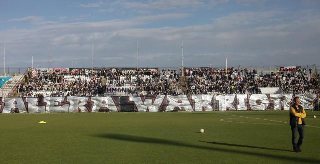 Fani ŁKS w ostatnim meczu z Concordią Piotrków