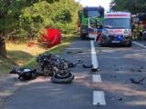 Śmiertelny wypadek motocyklisty we wsi Krasowa. Informacje policji o śmierci motocyklisty na DK 74 w powiecie bełchatowskim 13.09.2021