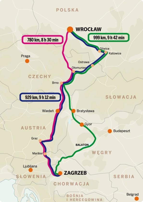 Z Wroclawia Do Chorwacji Jak Najlepiej Dojechac Mapa Trasy