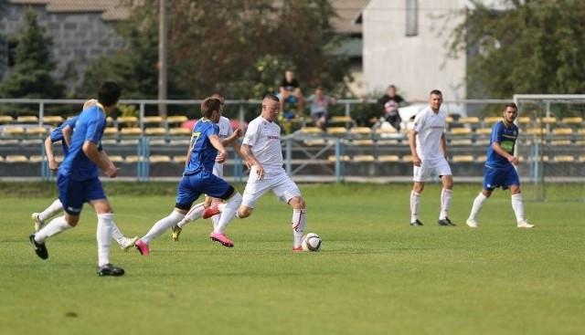 Napastnik Piotr Burski dwukrotnie pokonał golkipera