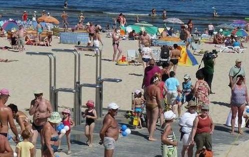Świnoujska plaża.
