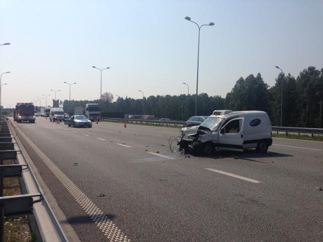 Wypadek autostrada A1 Knurów
