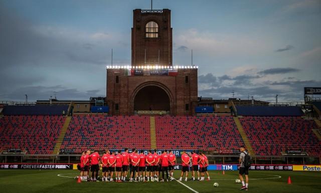 Polscy kadrowicze mają za sobą trening na stadionie Renato Dall`Ara w Bolonii