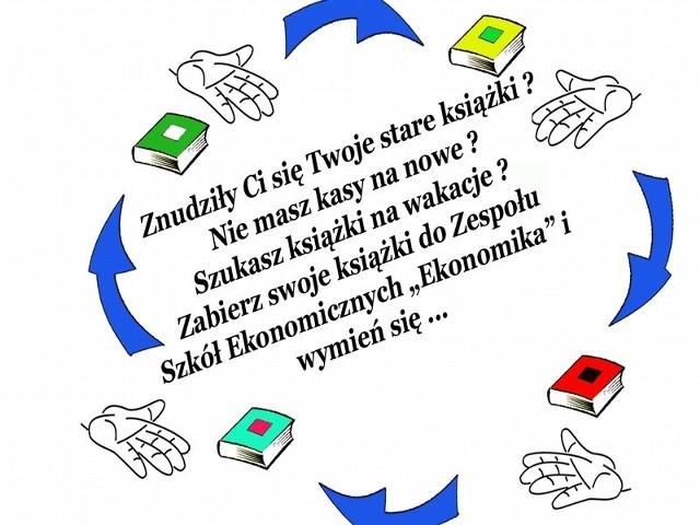 """W piątek w Zespole Szkół Ekonomicznych w Międzyrzeczu odbędzie się akcja """"Książka na wakacje""""."""