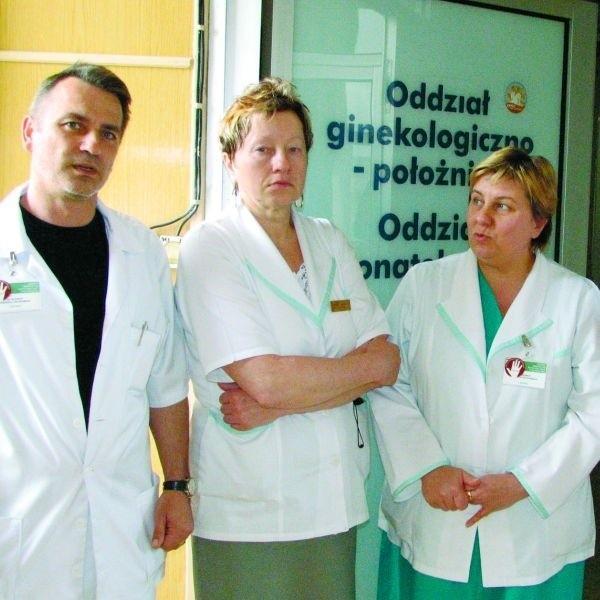 Suwalscy ginekolodzy będą pracować tylko od 8 do 15. Oddział dzienny nie zaspokoi wszystkich potrzeb - nie ma wątpliwości Jolanta Sochańska (z prawej). - Jest nam przykro, ale nie mamy innego wyjścia.
