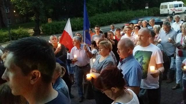 Protest przed sądem w Rybniku