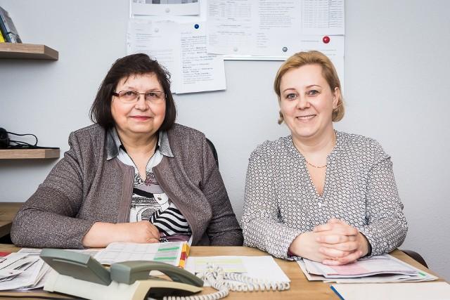 Na pytania odpowiadały Grażyna Kother (po lewej) oraz Katarzyna Kośmicka, ekspertki Izby Administracji Skarbowej w Bydgoszczy.