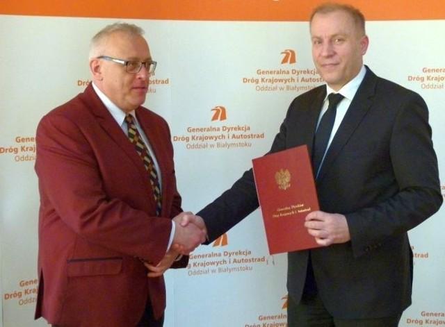 Wojciech Borzuchowski (po lewej) nowym dyrektorem GDDKiA