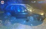 Powiat zamojski: Kierowca audi uderzył w betonowy przepust. Mężczyzna był trzeźwy