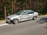 Zderzenie motocykla i BMW w Jacentowie. Krajowa trasa 74 zablokowana