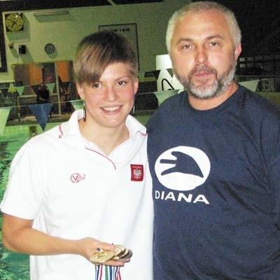 Joanna Mendak ze swoim trenerem Edwardem Decem