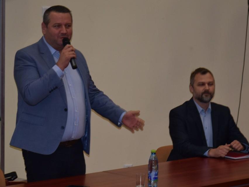 Spotkanie prezydenta Łukasza Kulika z mieszkańcami w auli WSAP. 23.09.2019
