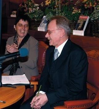 Marta Herling oraz Józef Opalski podczas spotkania w WL Fot. Wacław Klag