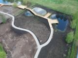 Park przy ul. Jagiellońskiej w Bielsku Podlaskim. W Podlaskiem powstaje jeden z piękniejszych parków miejskich [ZDJĘCIA, WIDEO]