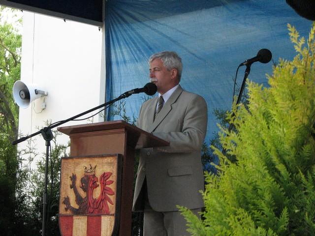 Tomasz Barczak, podczas targów w Bielicach
