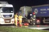 Śmiertelne potrącenie pieszego przez ciężarówkę w Zawierciu na DK78. Mimo reanimacji 36 - letni mężczyzna zmarł