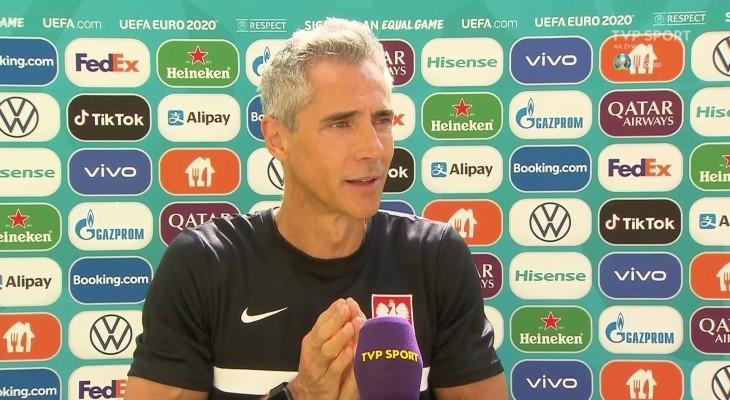 Euro 2020: Paulo Sousa: Już z Hiszpanią poprawiliśmy szybkość naszej gry [WIDEO]