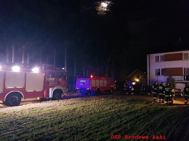 Powiat ostrołęcki. Pożar budynku mieszkalnego w miejscowości Surowe, gm. Czarnia, 17.10.2019