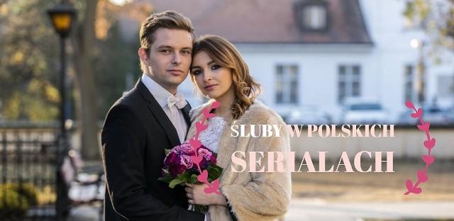 Bohaterowie polskich seriali bardzo często stają na ślubnym kobiercu, a widzowie uwielbiają ślubne odcinki! Śluby w polskich serialach bywają spektakularne, ale zdarza się również, że serialowe pary decydują się na bardziej kameralną uroczystość. W obu przypadkach nie brakuje jednak emocji i uniesień. Przeżyjmy więc jeszcze raz najpiękniejsze śluby w polskich serialach!