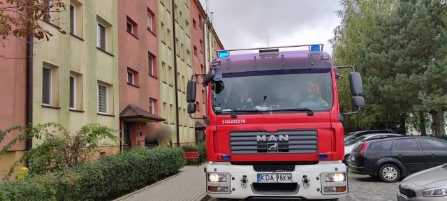 W działaniach na os. Westerplatte brali udział policjanci oraz strażacy