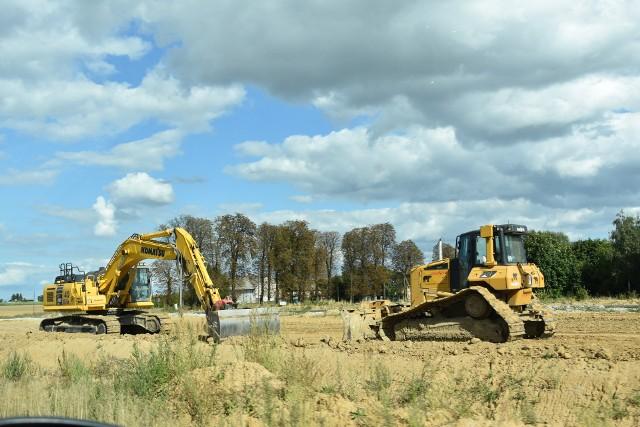 Prace na budowie S5 w rejonie Włók postępują.