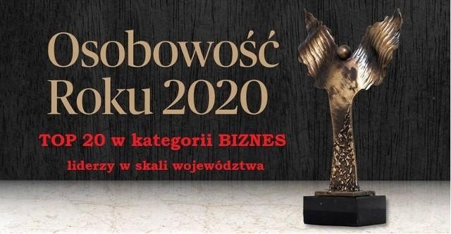 TOP 20 liderów w kategorii BIZNES.Ranking w skali województwa z 06.05.2021 r. z godz. 10:00
