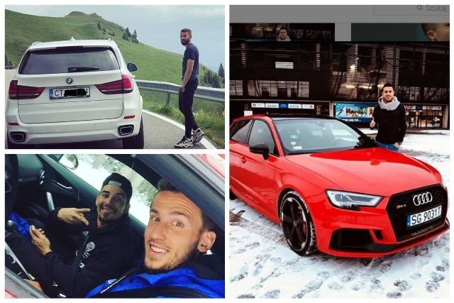 """Sprawdziliśmy, jakie samochody mają piłkarze z polskiej ekstraklasy. Nasi ligowcy lubią szybkie, drogie i luksusowe auta. Niektórzy zawodnicy chwalą się swoimi """"cacuszkami"""" w mediach społecznościowych. Przejdź dalej, klikając w prawą strzałkę."""