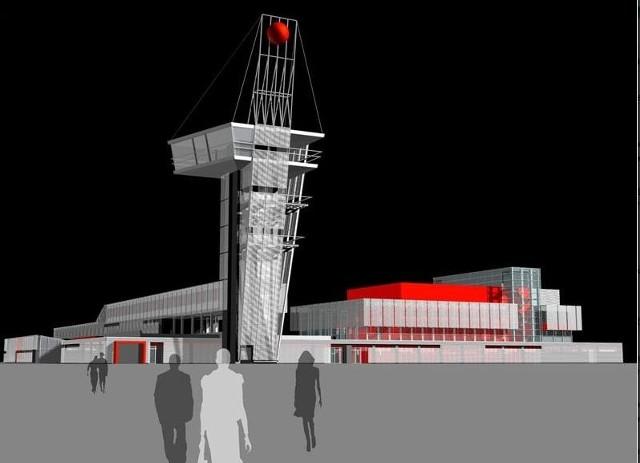 Tak będzie wyglądała widokowa wieża i centrum kongresowe Targów Kielce