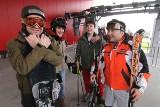 Z nartami i snowboardem do... Polinki. Tak rozpoczęli zimę [ZDJĘCIA]
