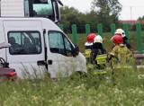Wypadek w Kątach Wrocławskich. Zderzyły się dwa busy