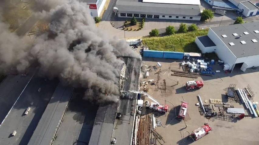 Pożar lakierni w Kowalewie.