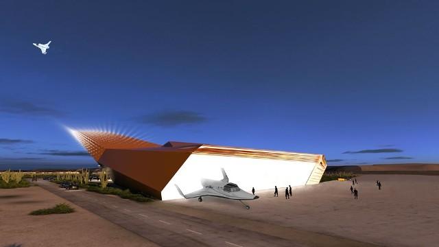 Tak ma wyglądać kosmiczny terminal na pustyni Mojave. fot Space Experience Curacao