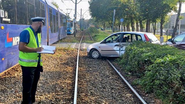 Wypadek na ul. Tarnogajskiej we Wrocławiu 27.09.2021