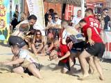 Bierhalle Manufaktura Beach Rugby. Walki na piasku na pewno nie zabraknie