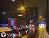 Kilka pożarów w bloku przy ulicy Bieżanowskiej w Krakowie. Policja zatrzymała kobietę podejrzaną o podpalenia